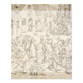 """Caritas (Charity) by Pieter Bruegel the Elder 4.5"""" X 5.6"""" Flyer"""