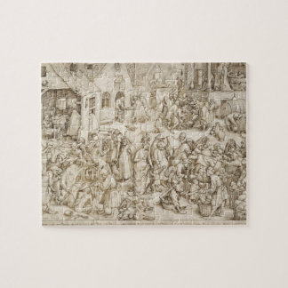 Caritas (Charity) by Pieter Bruegel the Elder Jigsaw Puzzle