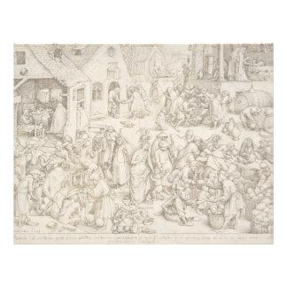 Caritas (Charity) by Pieter Bruegel the Elder Custom Letterhead