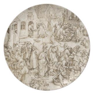Caritas (Charity) by Pieter Bruegel the Elder Melamine Plate