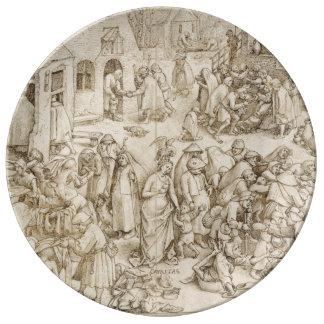 Caritas (Charity) by Pieter Bruegel the Elder Plate