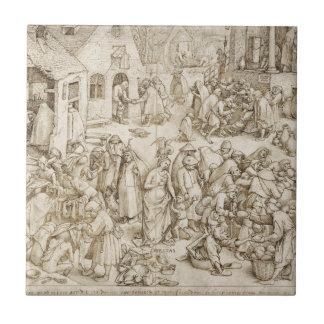 Caritas (Charity) by Pieter Bruegel the Elder Tile