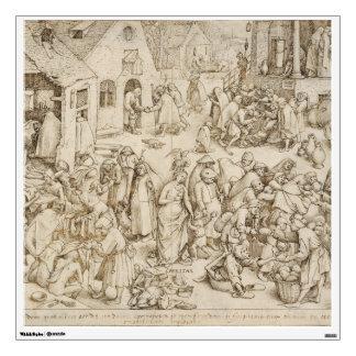Caritas (Charity) by Pieter Bruegel the Elder Wall Sticker