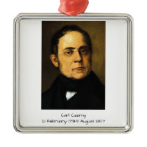 Carl Czerny Metal Ornament