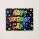 "[ Thumbnail: ""Carl"" First Name, Fun ""Happy Birthday"" Jigsaw Puzzle ]"