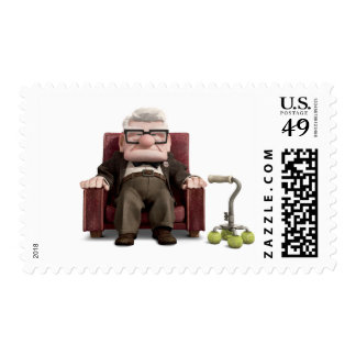 Carl from Disney Pixar UP - Sitting Postage Stamp