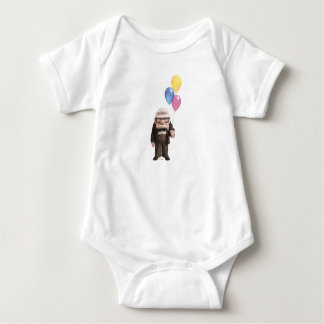 Carl from the Disney Pixar UP Movie Holding Baby Bodysuit