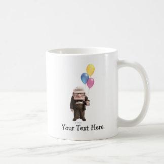 Carl from the Disney Pixar UP Movie Holding Coffee Mug