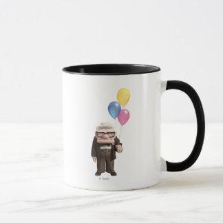 Carl from the Disney Pixar UP Movie Holding Mug
