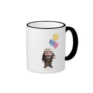 Carl from the Disney Pixar UP Movie Holding Ringer Mug