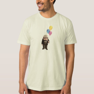 Carl from the Disney Pixar UP Movie Holding Shirt
