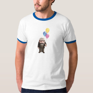 Carl from the Disney Pixar UP Movie Holding T Shirt