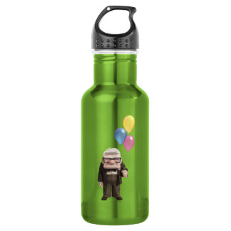 Carl from the Disney Pixar UP Movie Holding Water Bottle