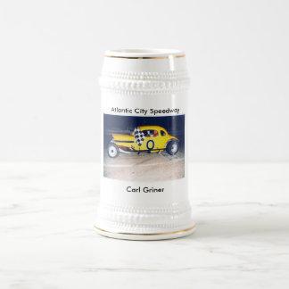 Carl Griner, Atlantic City Speedway 18 Oz Beer Stein
