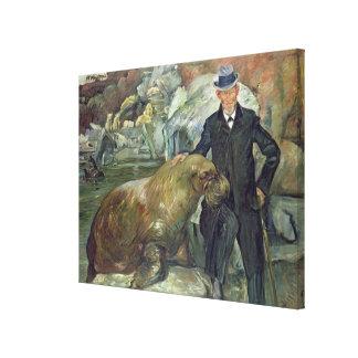 Carl Hagenbeck en su Zoo 1911 Impresión En Lienzo Estirada