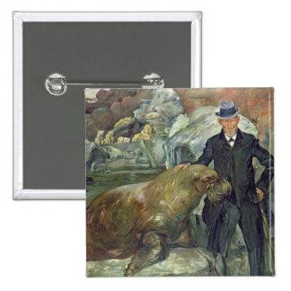 Carl Hagenbeck en su Zoo, 1911 Pin Cuadrada 5 Cm