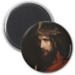 Carl Heinrich Bloch - Christ (Detail) 2 Inch Round Magnet