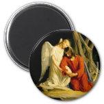 Carl Heinrich Bloch - Gethsemane 2 Inch Round Magnet