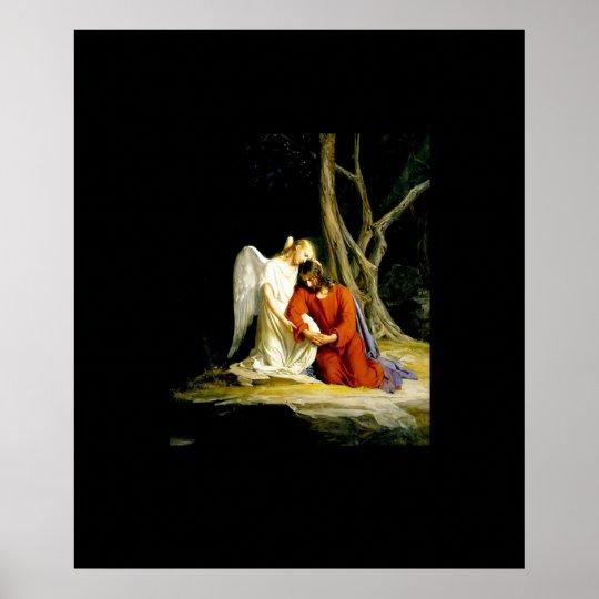 Angel with Jesus Before Arrest in the Garden of Gethsemane Carl Heinrich Bloch