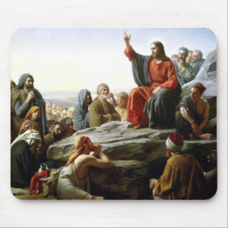 Carl Heinrich Bloch - Sermon on the Mount Mouse Pad