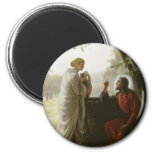 Carl Heinrich Bloch - Woman at the Well 2 Inch Round Magnet