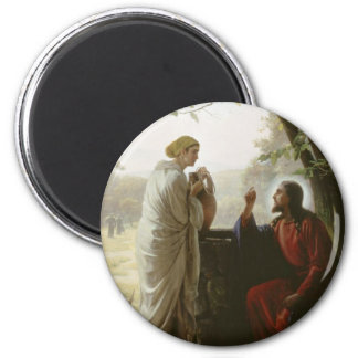 Carl Heinrich Bloch - Woman at the Well Fridge Magnet