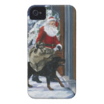 Carl Helping Santa Claus from <Carl's Christmas> b iPhone 4 Cases