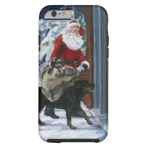 Carl Helping Santa Claus from Carls Christmas b Tough iPhone 6 Case