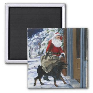 Carl Helping Santa Claus from <Carl's Christmas> b Magnet
