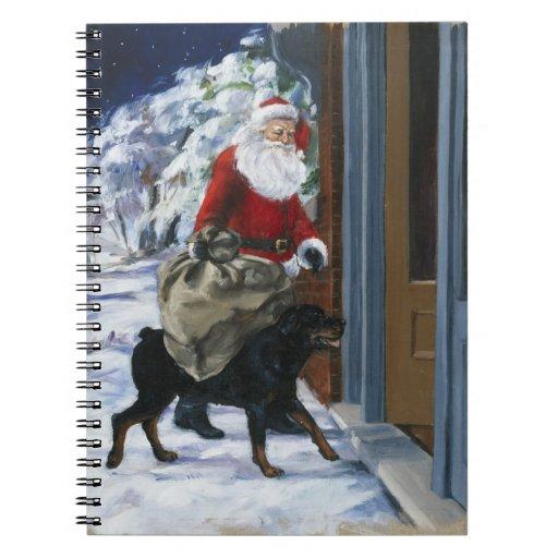 Carl Helping Santa Claus from <Carl's Christmas> b Notebook