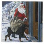 Carl Helping Santa Claus from <Carl's Christmas> b Ceramic Tiles
