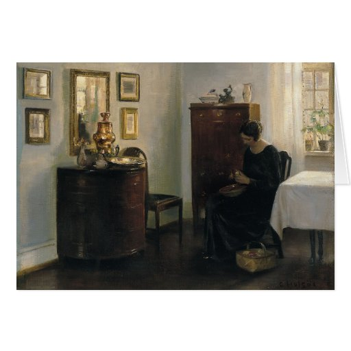 Carl Holsøe Woman with Fruit Bowl CC0449 Cards