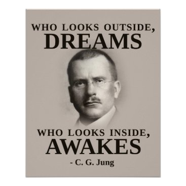 wordstolivebydesign Carl Jung Inspirational Quote Poster