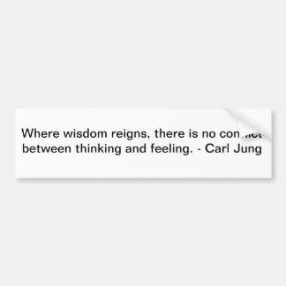 Carl Jung on Wisdom Car Bumper Sticker