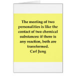 carl jung quote greeting card
