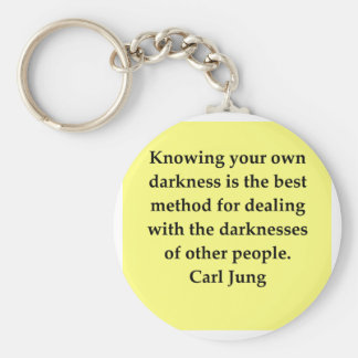 carl jung quote keychain