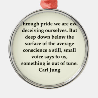 carl jung quote christmas ornament