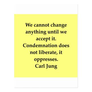 carl jung quote postcard
