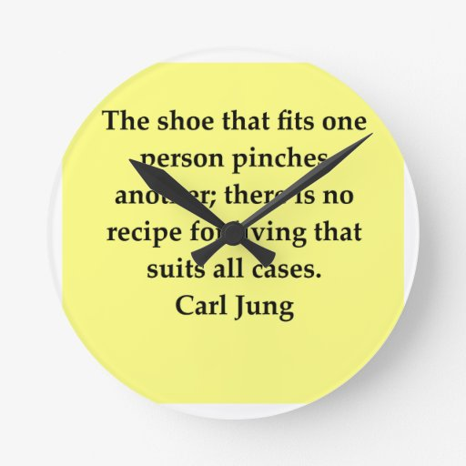carl jung quote round wall clocks