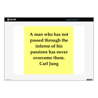 "carl jung quote decal for 15"" laptop"