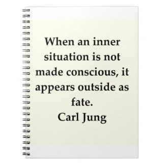 carl jung quote spiral notebook