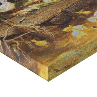 Carl Jutz - patos en el arroyo (modificado) Impresión En Lona