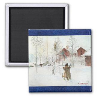 Carl Larsson and a Swedish Christmas Refrigerator Magnet