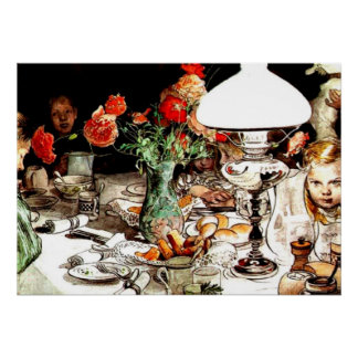 Carl Larsson - Around the Lamp Poster