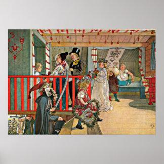 Carl Larsson art: A Day of Celebration Poster