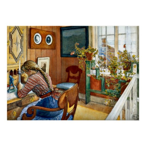 Carl Larsson art - Correspondence Poster
