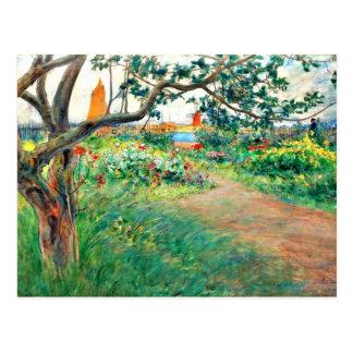 Carl Larsson art: Landscape at Marstrand Postcard
