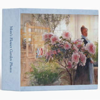 Carl Larsson Azalea Floral Fine Art Customizable Binder