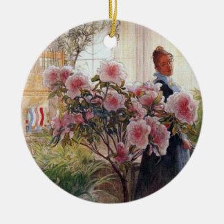 Carl Larsson Azaleas Ceramic Ornament