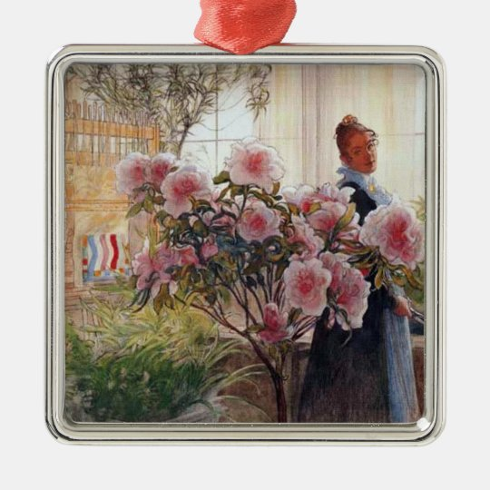 Carl Larsson  Azaleas Metal Ornament